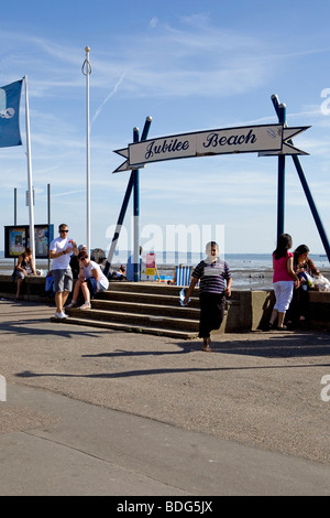 Jubilee Beach at Southend on Sea - Stock Photo