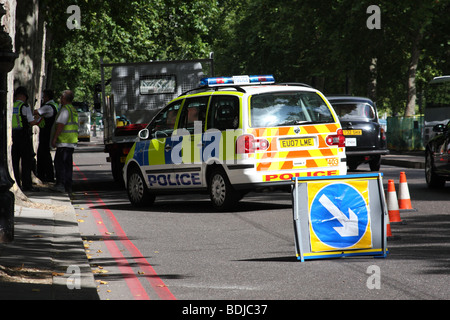 Metropolitan Police at an incident in Westminster, London, England, U.K. - Stock Photo