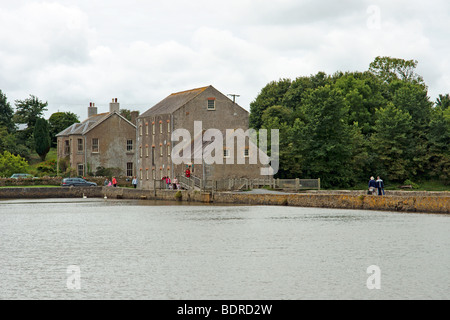 Carew Tidal Mill in Pembrokeshire West Wales - Stock Photo