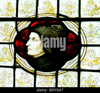 A stained glass window depicting Martin Luther.  Photo by Gordon Scammell - Stock Photo