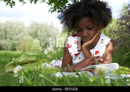 Kids in Garden - Stock Photo