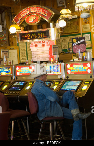 Delta Saloon on C St. in old mining town of Virginia City Nevada - Stock Photo