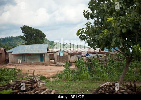 Village in Niger State, Nigeria - Stock Photo