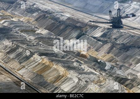 Open cast coal mine, Western Germany - Stock Photo