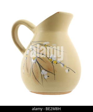 Pitcher with floral and leaf design - Stock Photo