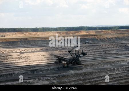 Open cast coal mine, Western Germany. - Stock Photo