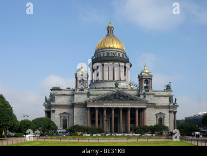 St. Isaac's Cathedral, Saint Petersburg, Russia, Europe - Stock Photo
