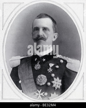 Victor Emmanuel III, 1869 to 1947. King of Italy 1900 to 1946, Emperor of Ethiopia 1936 to 1943 and King of Albania - Stock Photo