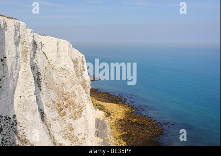 View of the White Cliffs of Dover, Kent, England, UK, Europe - Stock Photo