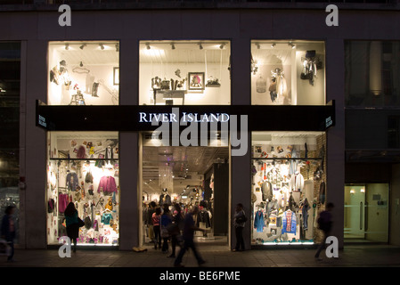 Flagship River Island store Oxford Street London - Stock Photo