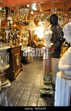Antique gallery, King's Road, Chelsea, Royal Borough of Kensington and Chelsea, Greater London, England, United - Stock Photo