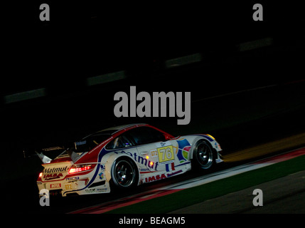 The Le Mans Series 1000km of the Algarve taking place during the night at the Autódromo Interncaional do Algarve, - Stock Photo