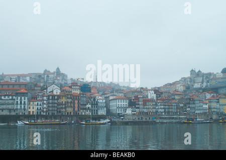 cais da estiva cais da ribeira porto portugal - Stock Photo