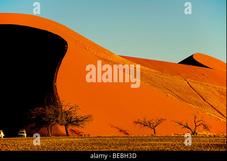 The Dune 45 in Sossusvlei area, Namib Naukluft National Park Namibia - Stock Photo