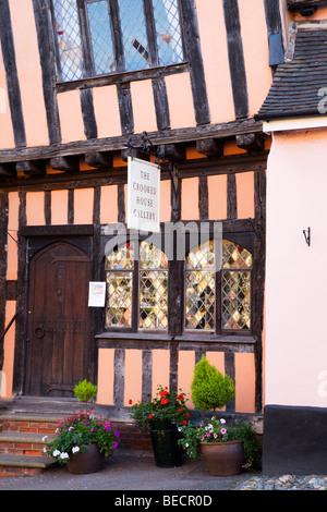 Crooked House Gallery Lavenham Suffolk England - Stock Photo