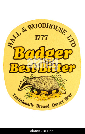 hall & woodhouse ltd 1777 badger best bitter traditionaly brewed dorset beer - Stock Photo