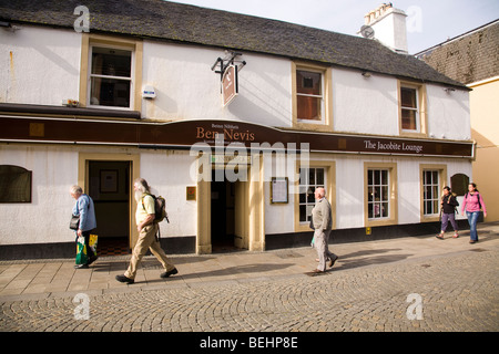 Ben Nevis Pub at Fort Wiliam Scotland - Stock Photo