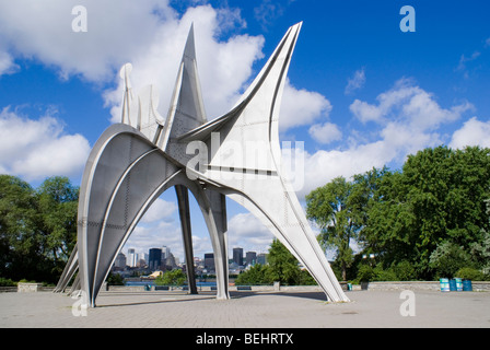 L'Homme (Man) by Alexander Calder, Montreal, Quebec, Canada. - Stock Photo