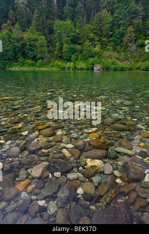 Rocks underwater in the Smith River, Jedediah Smith Redwoods State Park, California - Stock Photo