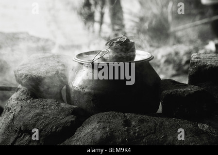 Tea being prepared, China - Stock Photo