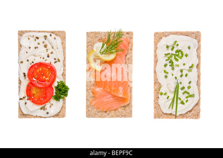 flat bread with toppings - Stock Photo