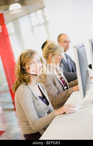 people working in an office - Stock Photo