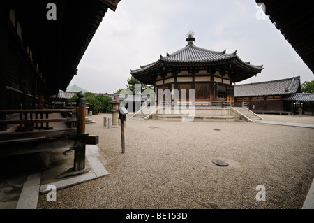 Yumedono (Hall of Dreams). To-in area. Horyu-ji complex. Ikaruga. Nara Prefecture. Kansai (aka Kinki) region. Japan - Stock Photo