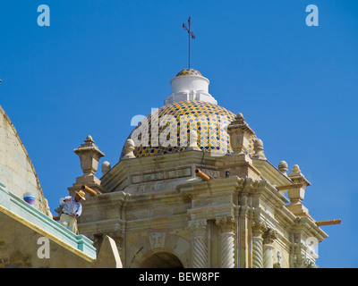 Cupola of a cathedral in Oaxaca, Mexico, low angle view - Stock Photo