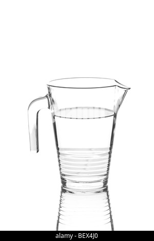 Glass ewer full of water - Stock Photo