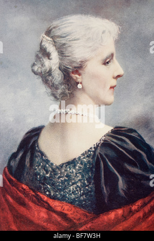 Archduchess Marie Henriette Anne of Austria, 1836 to 1902. Queen Consort of King Leopold II of Belgium. - Stock Photo