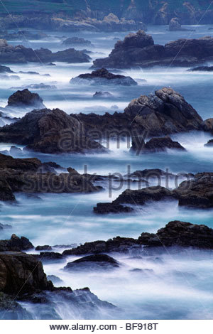 Surf and rocky shore, Garrapata State Beach, Big Sur, California - Stock Photo