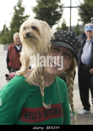 2009: New York CIty, 3rd Annual dog parade and contest at Pier 84 in Manhattan. - Stock Photo