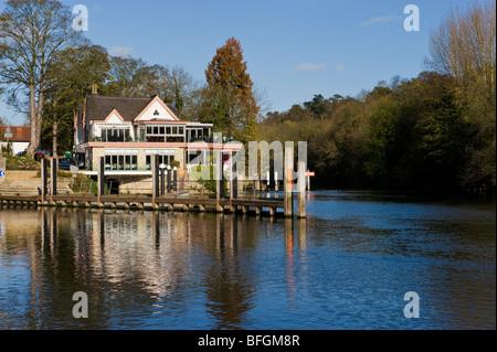Boulters Lock restaurant on the River Thames near Maidenhead Berkshire UK - Stock Photo