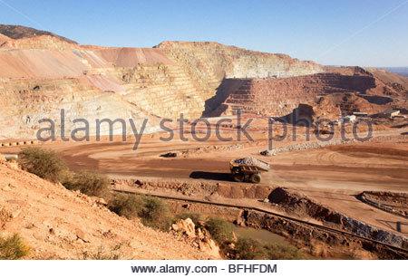 Metcalf Pit Morenci Mine Complex Freeport McMoRan Copper & Gold Arizona - Stock Photo