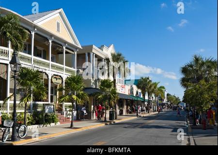 Duval Street, Key West, Florida Keys, USA - Stock Photo