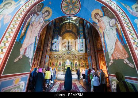 Ukraine, Kiev, St Michaels Gold Domed Monastery, 2001 copy of 1108 original - Stock Photo