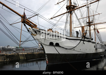 The Historic Dockyard, Chatham, Nr London, Medway, Kent, England, UK; view of HMS Gannet - Stock Photo