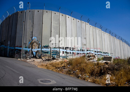 The wall in Bethlehem, Palestine, Middle East - Stock Photo