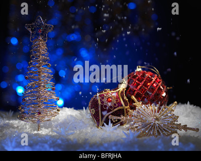 Christmas decoration artistic still life background - Stock Photo