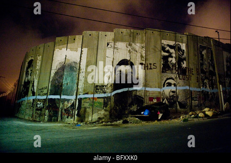 Bethlehem security barrier in the occupied west bank, Palestine. - Stock Photo