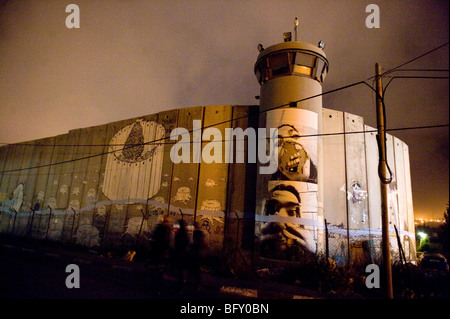 Bethlehem border security wall in the  occupied west bank, Palestine. - Stock Photo