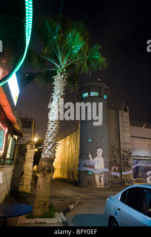 Bethlehem security wall in  occupied west bank, Palestine. - Stock Photo