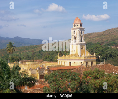 Tower of the Church and Convent of St. Francis of Assisi, Trinidad, UNESCO World Heritage Site, Cuba, West Indies - Stock Photo