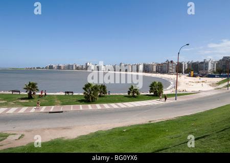 The Rambla, Montevideo, Uruguay, South America - Stock Photo