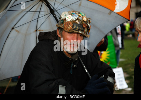Brian Haw, Iraq war Protester. - Stock Photo