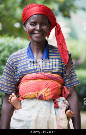 Village of Masango, Province of Cibitoke, Burundi, Africa - Stock Photo