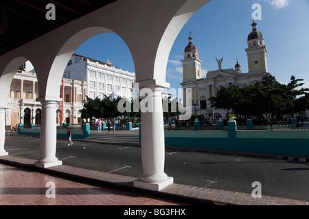 The Cathedral, Santiago de Cuba, Santiago de Cuba Province, Cuba, West Indies, Central America - Stock Photo