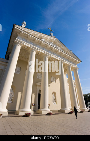 Cathedral, Vilnius, Lithuania, Baltic States, Europe - Stock Photo