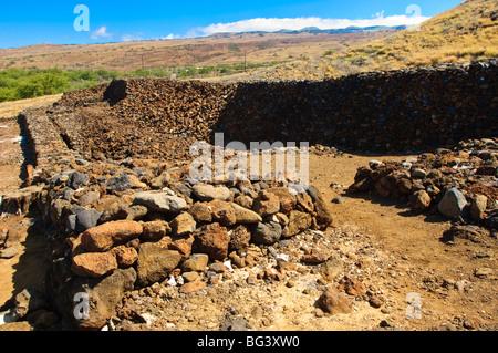 Pu'ukohola Heiau National Historic Site, Big Island, Hawaii, United States of America, North America - Stock Photo