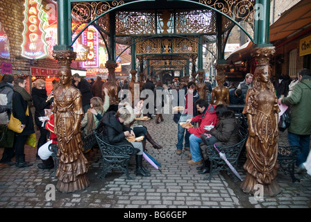 Details of Camden Town's Stable Market in London - Stock Photo